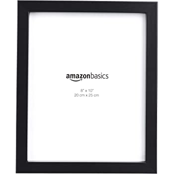 "AmazonBasics Photo Frame with Stand, Set of 5 | 8"" x 10"", Black"
