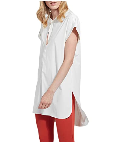 Lysse Viola Short Sleeve Tunic in Stretch Microfiber (White) Women