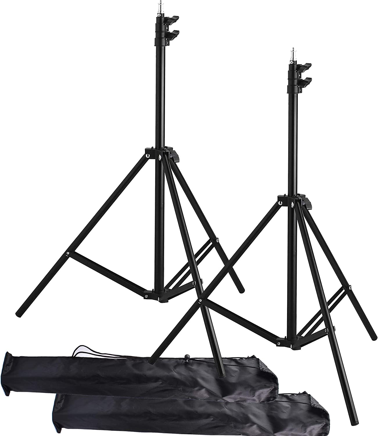 Max 87% OFF Light Stand Tripod 2Packs Riqiorod Alloy Discount is also underway Feet Aluminum 7 Photog