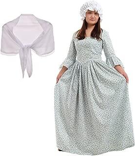 GRACEART Pioneer Colonial Women Costume Prairie Dress 100% Cotton (6 Colors Option)