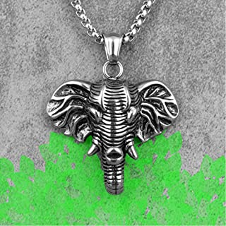 KnSam Stainless Steel Necklace for Men Animal Footprints Silver Chain Length:60CM