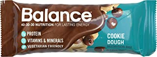Balance Bar, Healthy Protein Snacks, Cookie Dough, 1.76 oz, 6 Count