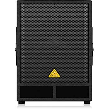 "BEHRINGER Professional Active 500-Watt 15"" Pa Subwoofer with Built-In Stereo Crossover Black, (VQ1500D)"
