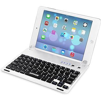 Arteck Apple iPad Mini用Bluetoothキーボードフォリオケースカバー スタンド付き 超薄型 Apple iPad Mini 3/2/1/に対応 130°旋回