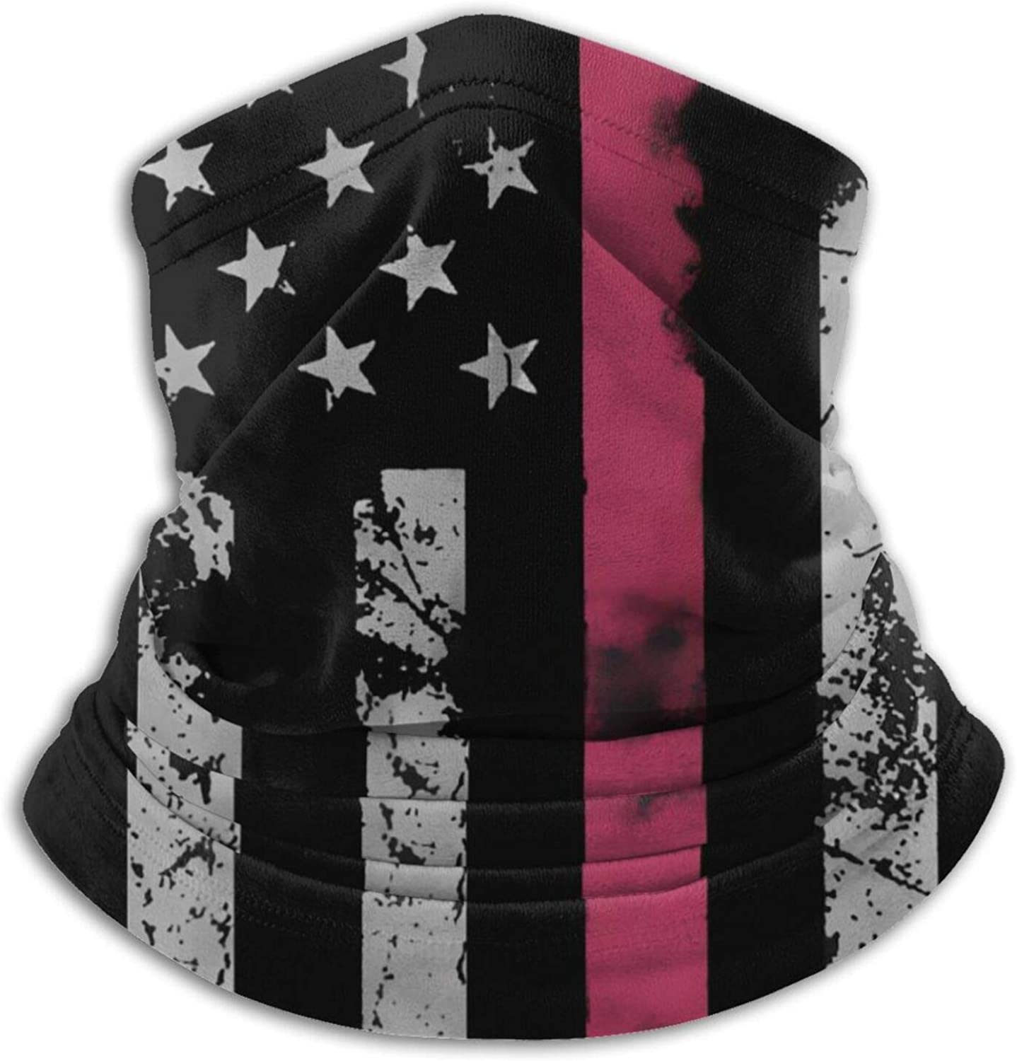 Men'S Bandana Neck Gaiter Red Line American Flag Face Scarf Sun Uv Protection Windproof Necks Warmer Breathable Lightweight Warm Winter Face Mouth Cover