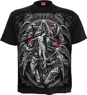 Spiral Reaper's Door Hombre Camiseta Negro, Regular