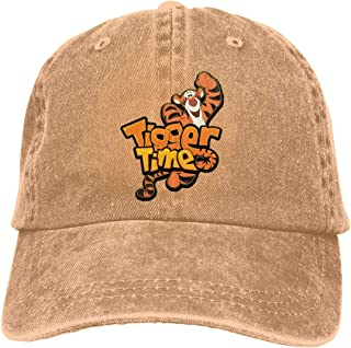 Tigger and Eeyore Men Womens Youth Boys Baseball Cap Washed Cotton Adjustable Hat
