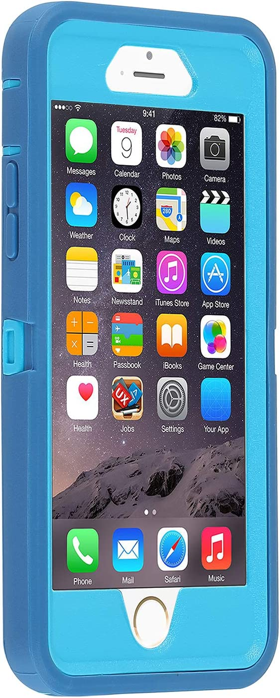Co-Goldguard Case for iPhone 6/6s,Heavy Duty 3 in 1 Built-in Screen Protector Durable Cover Dust-Proof Shockproof Drop-Proof Scratch-Resistant Shell for Apple iPhone 6/6s 4.7 inch,Blue