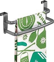 mDesign - Theedoekenrek - handdoekenrek/handdoekenrail - deurbevestiging/zonder boren - ideaal voor keukens en badkamers -...