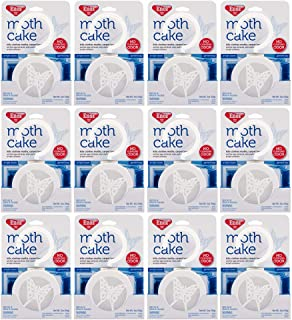 Enoz Moth Cake Pack of 12 Kills Clothes Moths, Carpet Beetles, and Eggs and Larvae