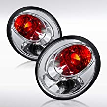 Autozensation For Volkswagen Beetle Euro Chrome Clear Rear Tail Brake Lights Stop Lamps Pair