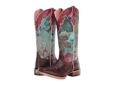 Ariat Fonda (Sequoia/Floral Ceramic) Cowboy Boots