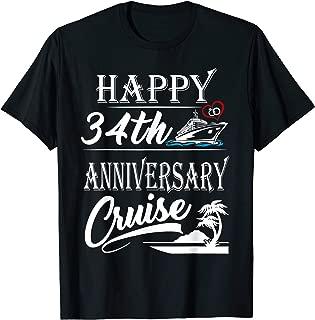 34th Years Anniversary Happy 34th Anniversary Cruise Shirt