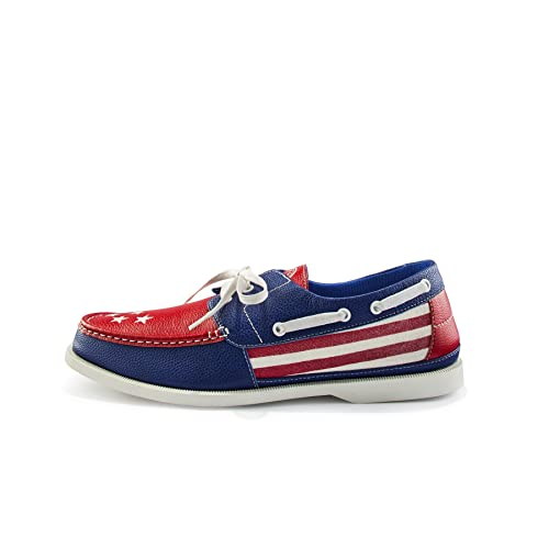 Starboard Shoes Patriotic Boat Shoes - Extremely Comfortable Loafers for  Men and Women - Slip on 264aa84325d