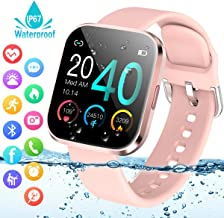 Smart Watch,Fitness Watch Activity Tracker with Heart Rate Blood Pressure Monitor IP67..