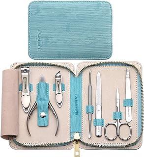 Kit de manicura, cortaúñas, kit de pedicura, juego de manicura, FAMILIFE, juego de uñas de acero inoxidable 7 en 1, kit de...