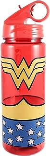 DC Comics WW0164 Wonder Woman Uniform Tritan Water Bottle, 20 oz, Red, blue, yellow
