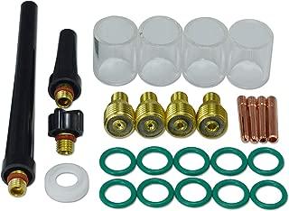 TIG Gas Lens Collet Body Pyrex Cup Kit DB SR WP 9 20 25 TIG Welding Torch 26pcs
