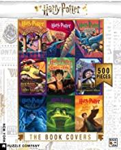 New York Puzzle Company - Harry Potter Book Cover Collage - 500 Piece Jigsaw Puzzle