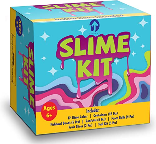 popular Upside Up Slime Kit & Supplies (Containers, Charms, Fishbowl Beads, Foam Balls, & More!)   DIY Fluffy, Cloud & Clear Premade Slime Making Gifts for new arrival Kids Boy & Girl online sale Ages 4, 5, 6, 7, 8, 9, 10 Year Old online