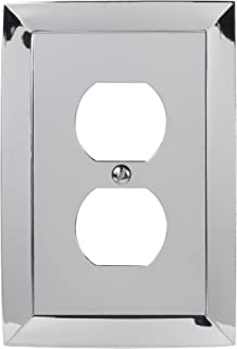 Amerelle Studio Single Duplex Cast Metal Wallplate in Polished Chrome