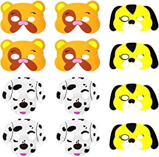 Blue Orchards Puppy Party Foam Masks (12), Puppy Party Supplies, Birthday Party Accessories