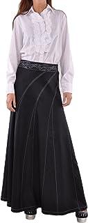 Style J Sweeping Beauty Long Denim Skirt