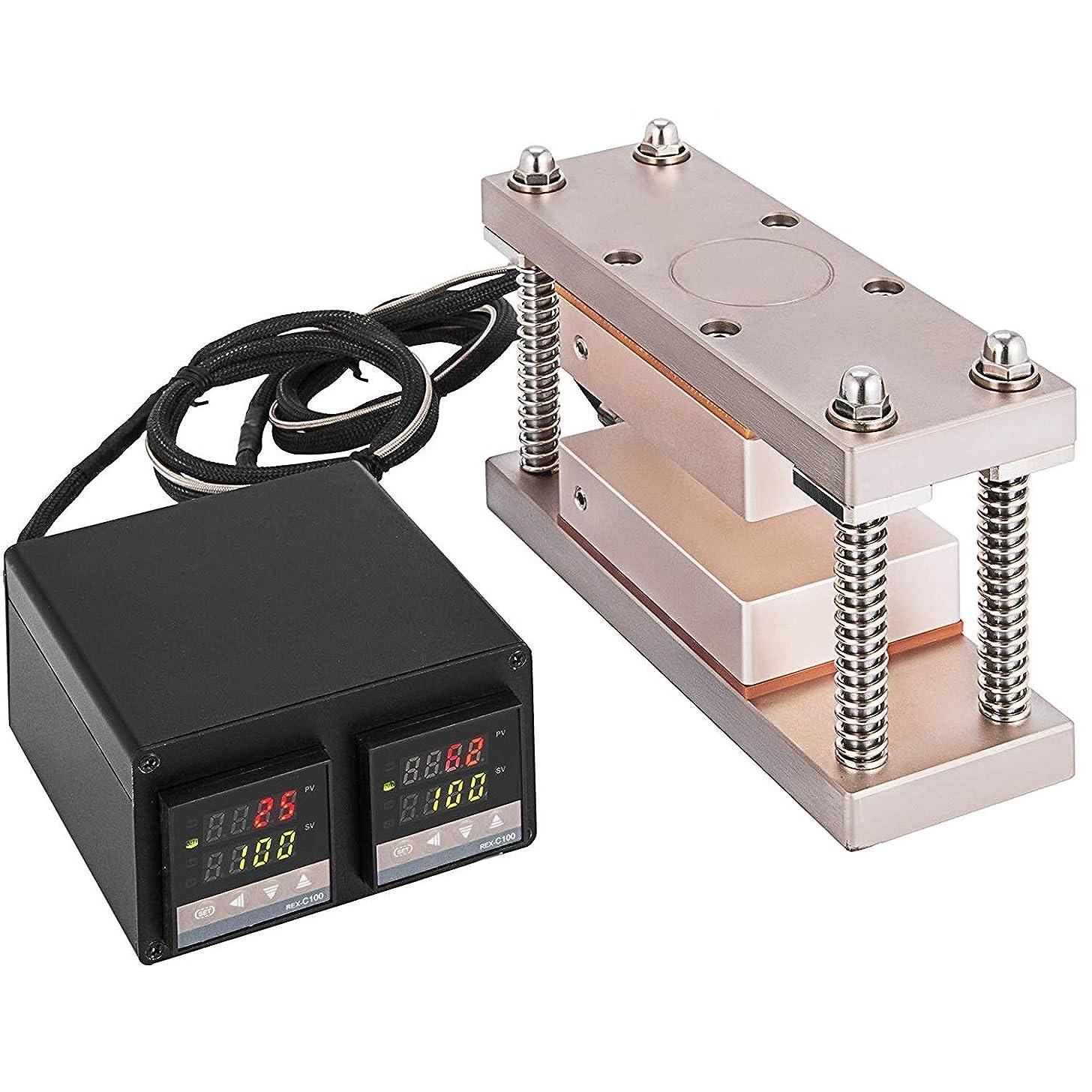 """Tech-L Heat Press Plates 3X5"""" Heat Press Kit with Double Digital Display Temperature Controller Box (3X5"""" 600W)"""