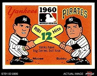 1971 Fleer World Series # 58 1960 Pirates/Yankees Pirates/Yankees (Baseball Card) Dean's Cards 5 - EX Pirates/Yankees