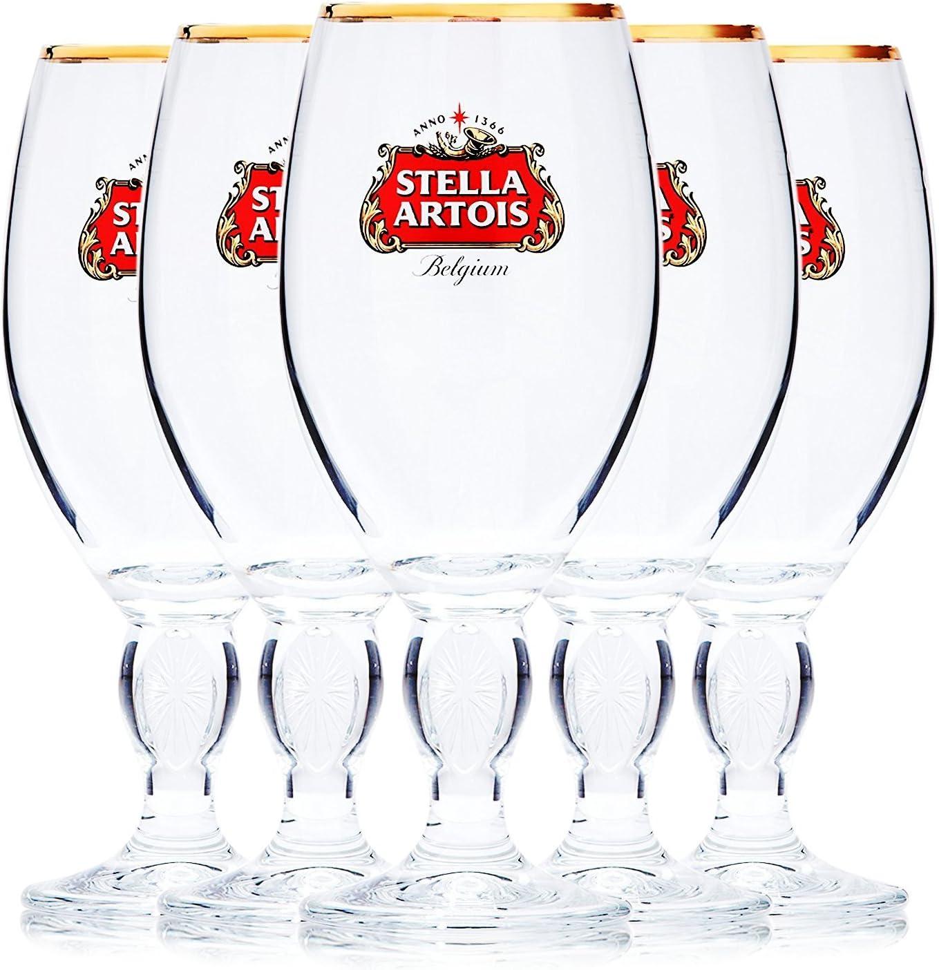 Stella Cheap Artois 5-Pack Original 33cl Glass Chalice Beer sale