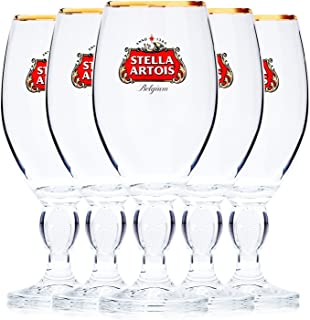 Stella Artois 5-Pack Original Beer Glass Chalice, 33cl