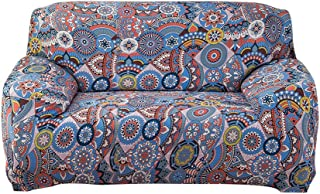 ELE ELEOPTION Hengwei Couch Cover with One Free Pillow Case,Printed Sofa Cover Stretch Couch Cover Sofa Slipcover for Couche and Loveseat and Chair (Loveseat, Multi-Color)