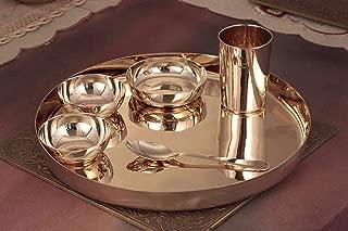 100% KANSA BRONZE Thali set Ayurveda & Health dinner gift set