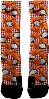 Custom Elite Hot Wings Athletic Crew Socks