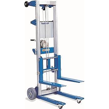 Genie Lift, GL- 8, Heavy-Duty Aluminum Manual Lift, 400 lbs Load Capacity,  Lift Height 10' 0.5