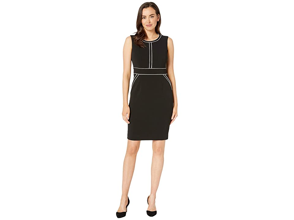Anne Klein Color Block Sheath Dress (Anne Black/Anne White) Women