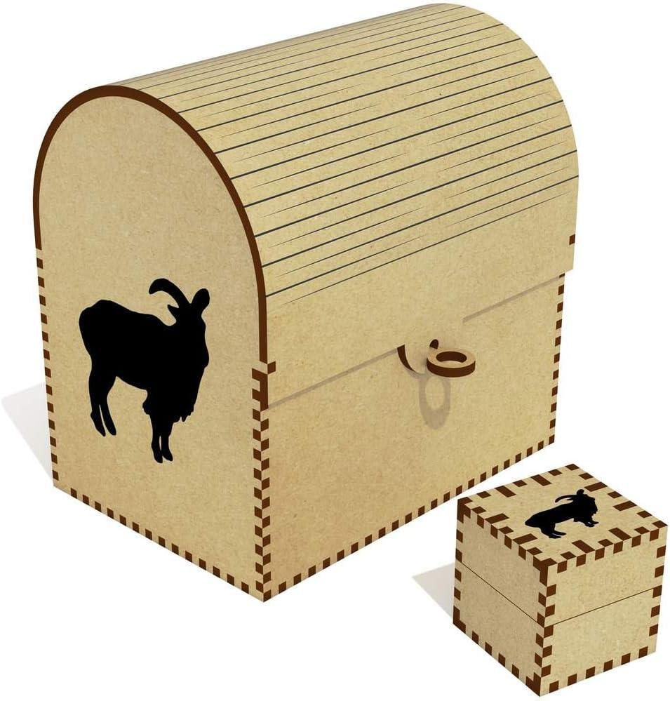 Azeeda 'Goat Silhouette' Treasure Jewellery Box San Diego Mall Chest High order TC0003046