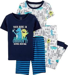 Carter's Boys Snug Fit Cotton PJs Pajamas (Blue Monster, 10)