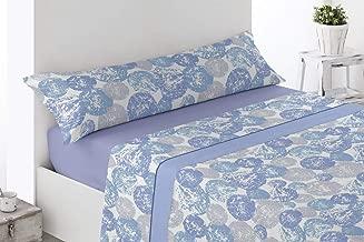 Energy Colors Textil - Hogar - Serie Ottawa - Juego Sábanas 3 Piezas Verano Tacto Super Soft (Gris Fuens, 150_x_200_cm)