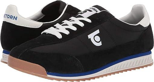 Black/Black/Vintage White Leather/Textile