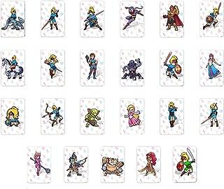 新しいカードとの野生のBotwスイッチWii Uのゼルダの息の伝説のための23pcs NFCカード