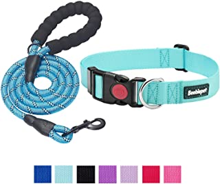 beebiepet 2 Packs Classic Dog Collar with Quick Release Buckle Adjustable Dog Collars for Small Medium Large Dogs