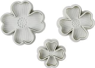 Verdental DIY Cake Plunger Cutter Molds Sugarcraft Cake Decorating 3-pieces (Four-leaf Clover Shape)