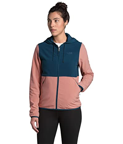 The North Face Mountain Sweatshirt Hoodie 3.0 (Blue Wing Teal/Pink Clay) Women