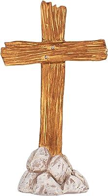 Dicksons Said A Prayer Cross Navy Blue 3 inch Resin Stone Tabletop Figurine with Card