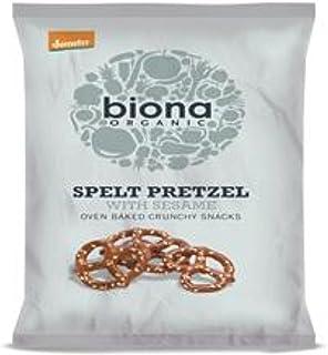 Biona Organic Spelt Sesame Pretzels, 125 gm