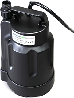 Submersible Clean Water Sump Pump 0.5hp, 1560GPH, 28`Head, Thermoplastic to avoid corrosion, Thermal Protector, Copper Winding - Schraiberpump