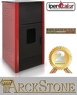 Estufa Focolare Pellets económica Centro Flam ipercalor Hydro 22IB color beige rojo burdeos gris antracita 22kW Idro Basic calor Radiador Agua Sistema Cálido ROSSO BORDEAUX