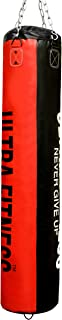 comprar comparacion Ultra Fitness - Saco de boxeo relleno con cadena para colgar, ideal para cardio, fitness y entrenamiento de artes marciale...