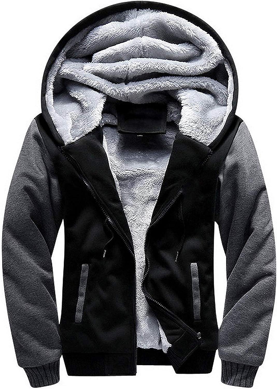 SWISSWELL Hoodies for Men Fleece Sweatshirt Winter Jacket Zip Up Thick Sherpa Lined